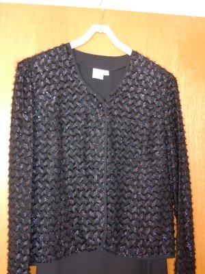 Glanzende blouse zwart Polyester