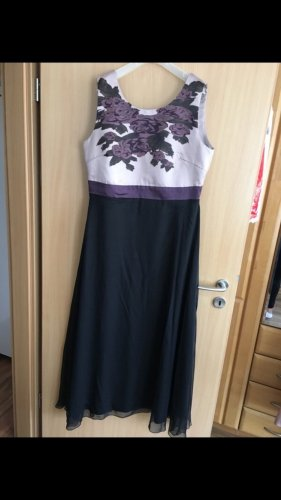 Evening Dress black-grey lilac