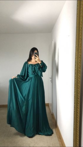 Azra Robe de soirée vert forêt