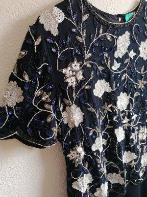 True Vintage Sequin Dress dark blue