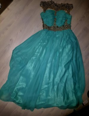 Glamour Off-The-Shoulder Dress turquoise