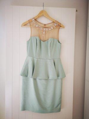 Apart Peplum jurk grijs-groen