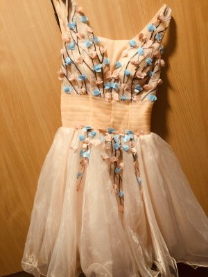 Vestido de baile rosa-azul bebé