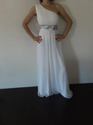 Robe asymétrique blanc