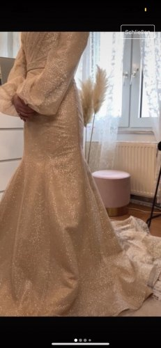 MkCansel Wedding Dress gold-colored-silver-colored