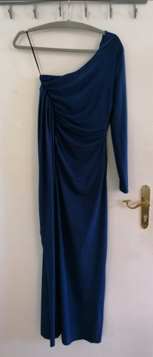 Rainbow One Shoulder Dress dark blue