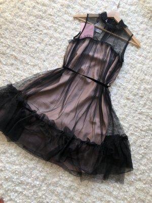 Apart Vestido de noche negro-nude