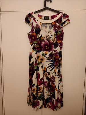 Hearts & Roses A Line Dress multicolored