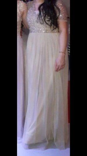 Suknia balowa kremowy