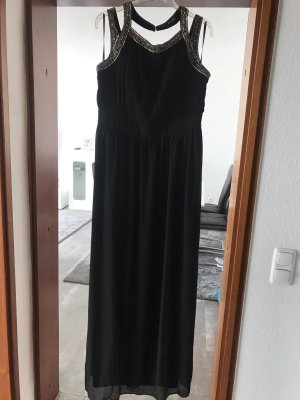 Asos Robe de soirée noir-argenté