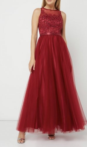 Laona Evening Dress red-dark red polyester
