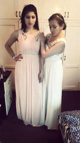 Adrianna Papell Vestido de noche blanco-rosa