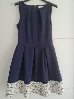 Closet London Evening Dress cream-steel blue