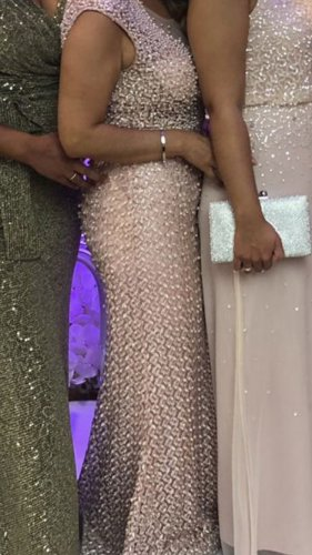 100% Fashion Suknia wieczorowa różany