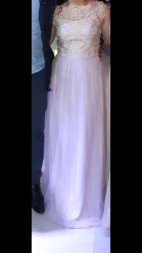 Suknia balowa bladofiołkowy