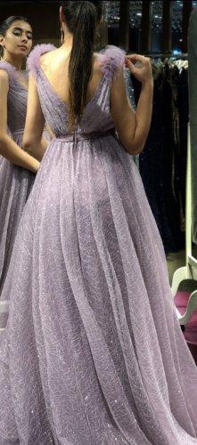 Abendkleid Suknia wieczorowa bladofiołkowy-fiolet