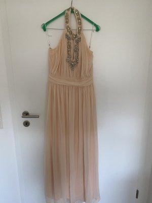 100% Fashion Suknia wieczorowa nude-różany