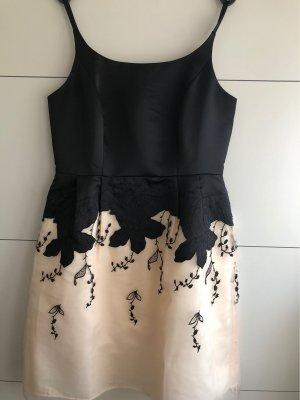 Asos Tall Suknia wieczorowa czarny-w kolorze białej wełny Poliester