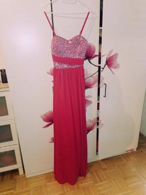 Abendkleid, Abikleid, Ballkleid, Fotoshooting pink Glitzer Steine