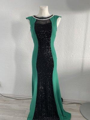 Abendkleid Abiye Eng Gr 36/38 grün schwarz