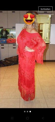 Asos Robe à franges rouge