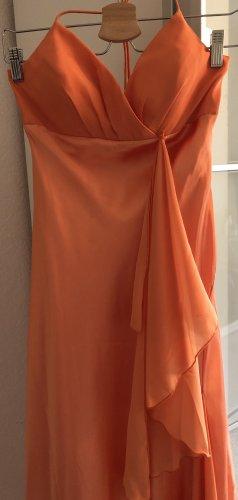 Abendkleid Ballkleid Gr. S 36/38 Offener Rücken Abiball Farbe:Lachs Orange