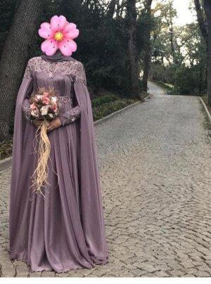 Abendkleid Ballkleid Maxikleid, langes elegantes Kleid mit Ärmel