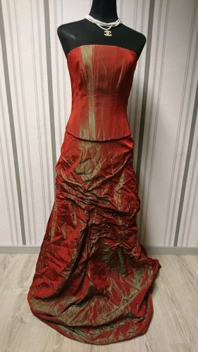 Abendkleid Ballkleid mit Schleppe rot Größe S