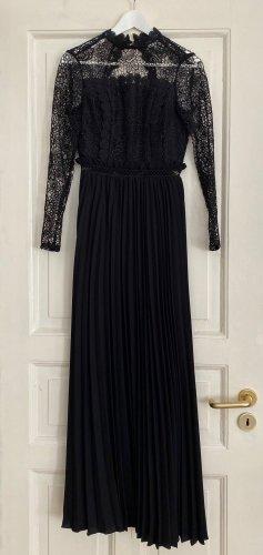 Abendkleid Ballkleid Robe Maxikleid True Decadence schwarze Spitze Rückenausschnitt