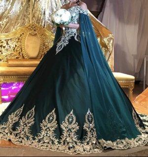 Robe de mariée vert forêt