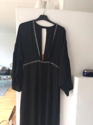 Abendkleid bodenlang schwarz