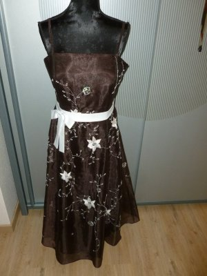 Ambiance Evening Dress white-brown