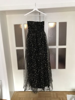 Joanna august Vestido de noche negro-color oro