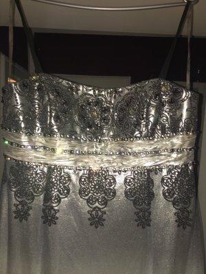 Abendkleid Brautkleid silber Größe 46
