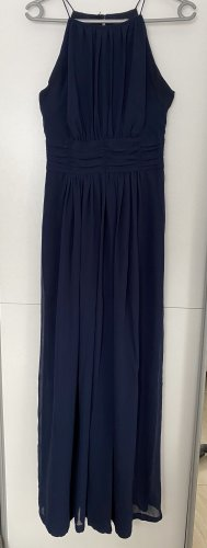 Swing Chiffon Dress dark blue