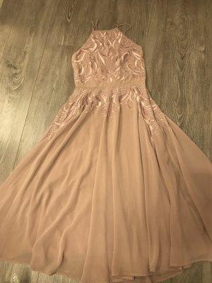 Asos Evening Dress rose-gold-coloured mixture fibre