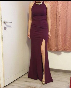 100% Fashion Abito da sera rosso mora