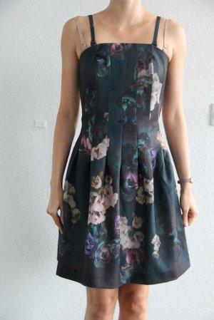 H&M Vestido corsage gris antracita