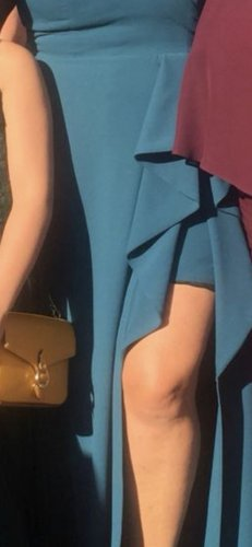 100% Fashion Robe de soirée bleu pétrole