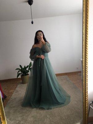 Azra Dress Evening Dress baby blue-brown red