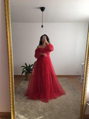 Azra Dress Evening Dress brick red