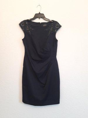 Adrianna Papell Vestido de noche azul oscuro