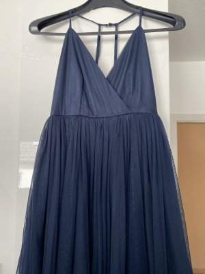 Asos Babydoll Dress dark blue-blue