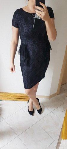 Abendkleid dunkelblau schwarz 38/40