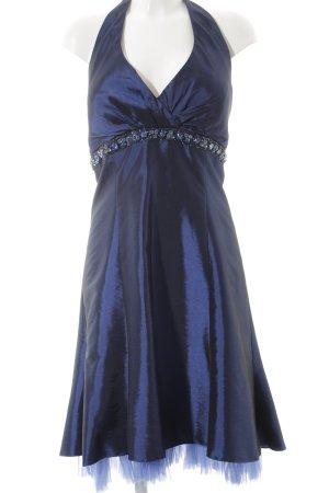 Abendkleid dunkelblau-stahlblau Elegant