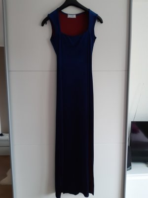 Cotton Candy Evening Dress red-blue polyester