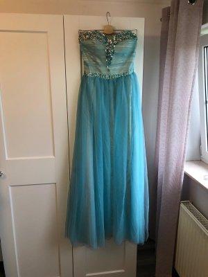 Dylanqueen Vestido de baile azul claro