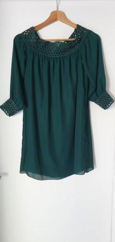 Sukienka typu babydoll zielony-leśna zieleń