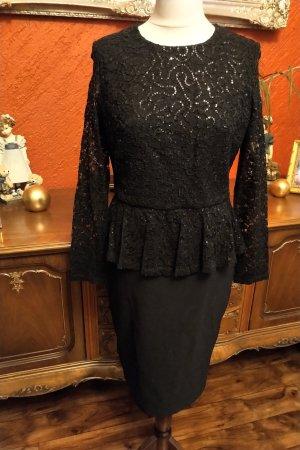 4F Vestido de lentejuelas negro