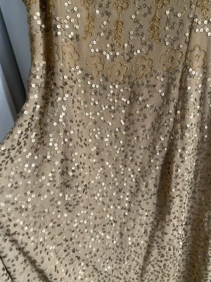Abendkleid Gold 42 XL Maxikleid